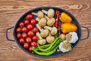 野菜やキノコなどの食物繊維